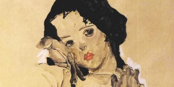 fragmento de cuadro de Egon Schiele