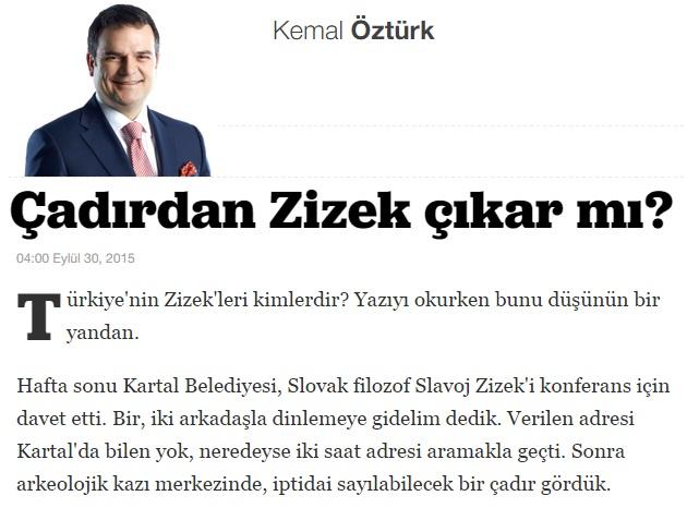 Kemal Ozturk Zizek