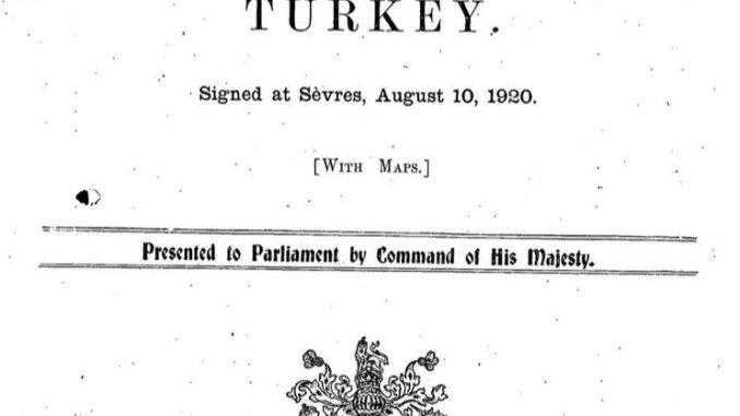 Sevr Antlaşması'nın Aslı