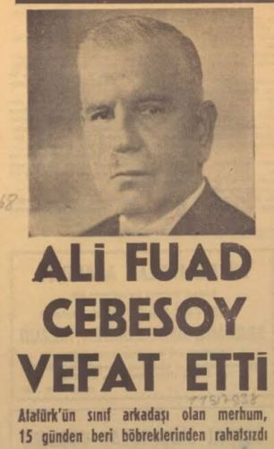 ali fuat cebesoy vefat