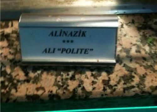ali nazik ali polite