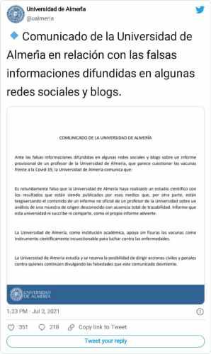 almeria üniversitesi açıklaması