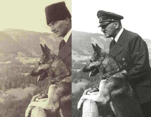 atatürk kurtla fotoğrafı