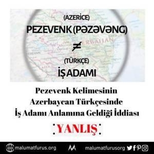 azerice pezevenk türkçe iş adamı demek