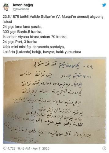 valide sultan alışveriş listesi