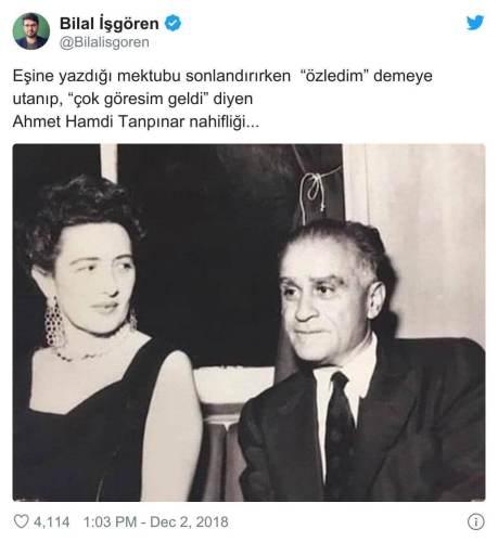 Ahmet Hamdi Tanpınar çok göresim geldi