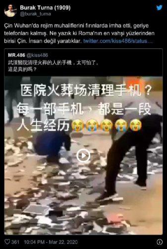 Çin fırında yaktı