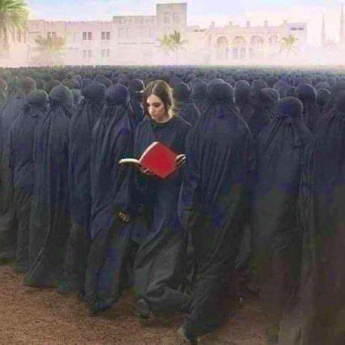 burka kadın kitap