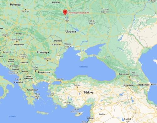 çernobil harita