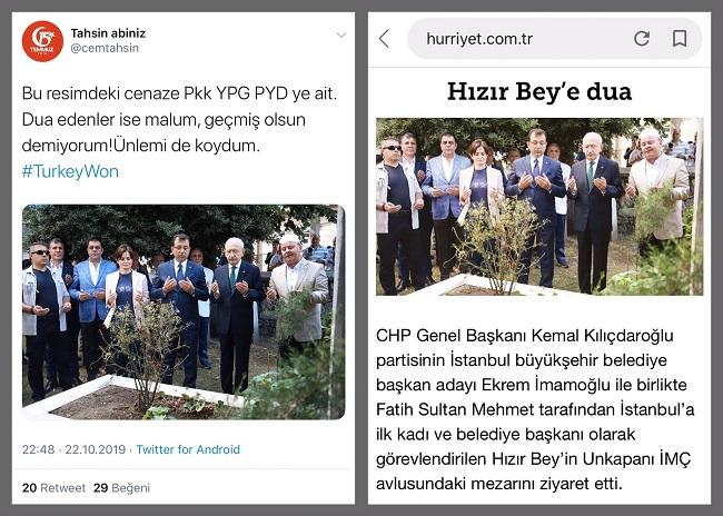 CHP'li heyetin terörist mezarını ziyaret ettikleri iddiasıyla paylaşılan fotoğraf ve iddianın aslı