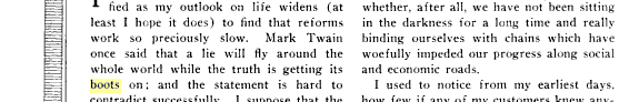 """""""Doğru Ayakkabılarını Giyene Kadar Yanlış Dünyayı Dolaşır"""" Sözünü Mark Twain'e İlk Kez Atfeden Kaynak"""