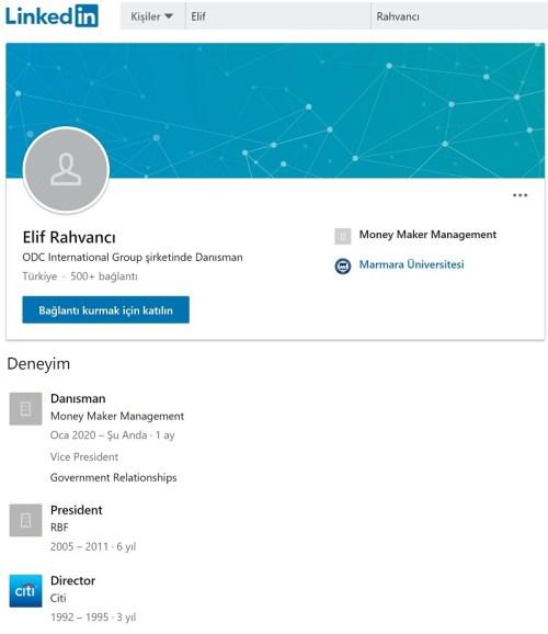 Money Maker Management'ın Türkiye Ofisi Başkanı Elif Rahvancı'nın LinkedIn profili