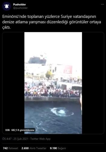 galata köprüsü denize atlama yarışması