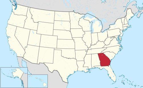 georgia eyaleti haritası