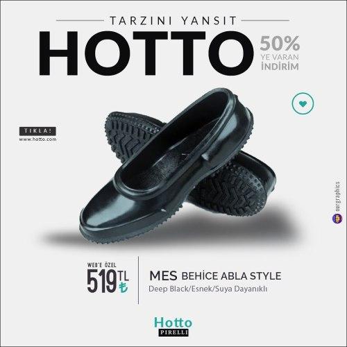 hotto kara ayakkabi