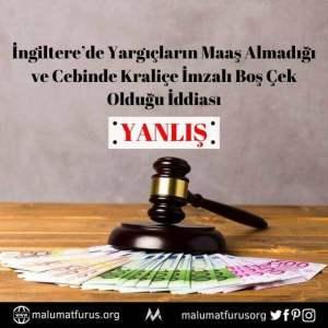 ingilterede yargıçların maaşı