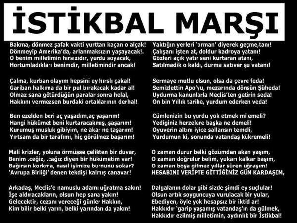 Cem Yılmaz'a ait olduğu iddiasıyla paylaşılan, yazarının kimliği tespit edilemeyen İstikbâl Marşı adlı şiir