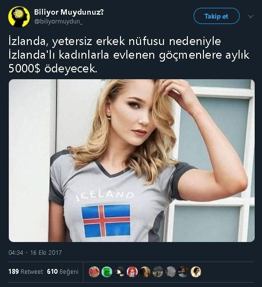 İzlandalı kadınlarla evlenen göçmenlere aylık 5000 dolar ödeneceğini iddia eden paylaşım