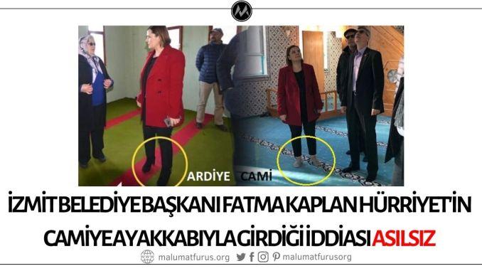İzmit Belediye Başkanı Fatma Kaplan Hürriyet'in Camiye Ayakkabıyla Girdiği İddiası Asılsız