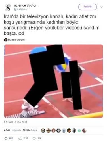 kadın koşucu sansür