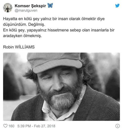 Robin Williams ölüm yalnızlık