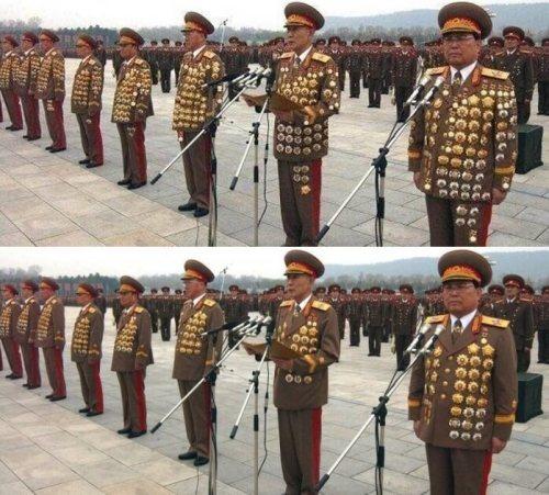 kuzey koreli generaller madalya