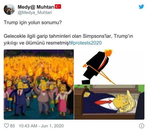 donald trump simpsons ölümü