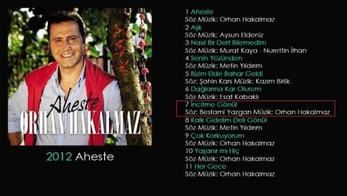 orhan hakalmaz aheste albümü