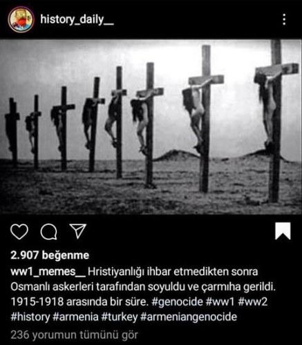 osmanlı askerleri tarafından çarmıha gerilen