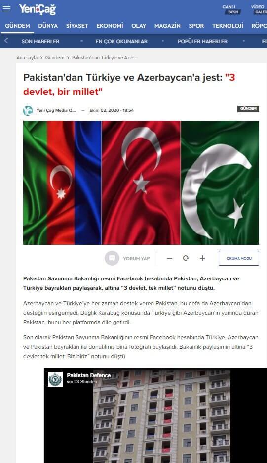 pakistan 3 devlet tek millet haber