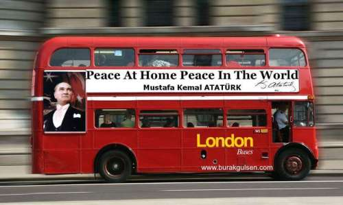 peace at home peace in the world london bus