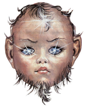 Tan Gazetesinin asparagas sakallı bebek haberinde kullanılan çizim