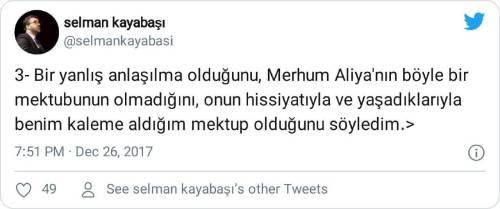 aliya izzetbegoviç türke mektubu