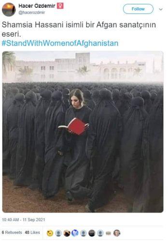 Shamsia Hassani afgan sanatçı