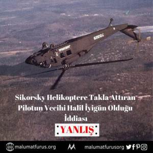 sikorsky helikoptere takla attıran plot