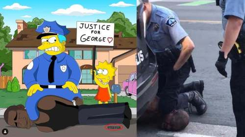 simpsons george floyd