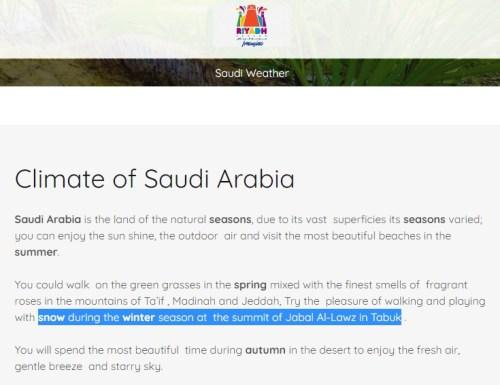 suudi arabistan tebük kar