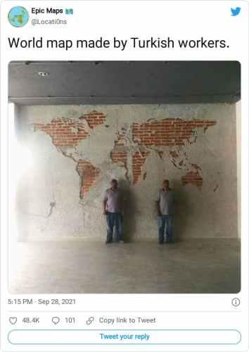 turk isciler dunya haritasi