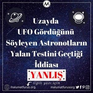 uzayda ufo gören astronot