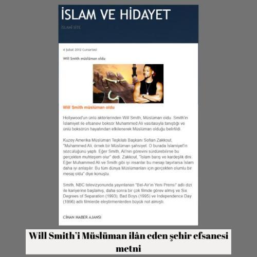 Will Smith'in Müslüman olduğu iddiasını içeren metin