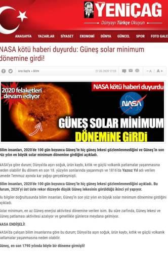 güneş solar minimum