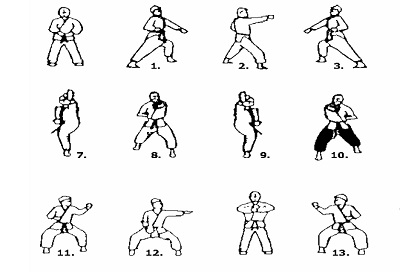 Tae Kwon Do Moves in Korean