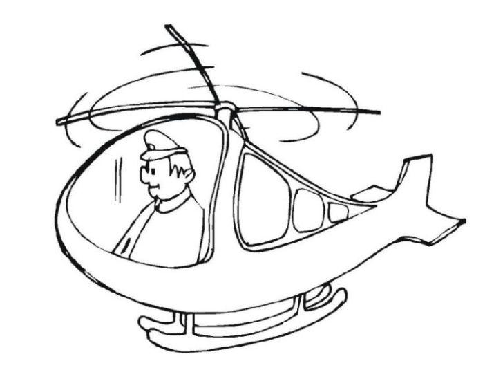 Ausmalbilder zum Drucken Malvorlage Hubschrauber kostenlos 4