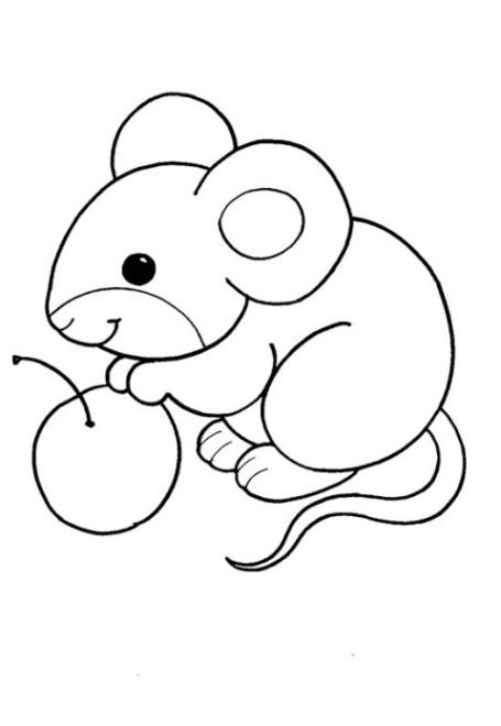 Ausmalbilder zum Drucken Malvorlage Maus kostenlos 2