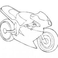 Ausmalbilder zum Drucken Malvorlage Motorrad kostenlos 1
