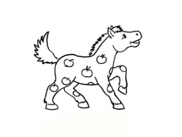 Ausmalbilder zum Drucken Malvorlage Pferd kostenlos 1