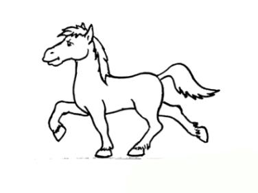 Ausmalbilder zum Drucken Malvorlage Pferd kostenlos 2