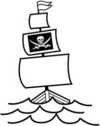 Ausmalbilder zum Drucken Malvorlage Piratenschiff kostenlos 2