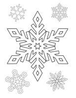 Ausmalbilder zum Drucken Malvorlage Schneeflocke kostenlos 2
