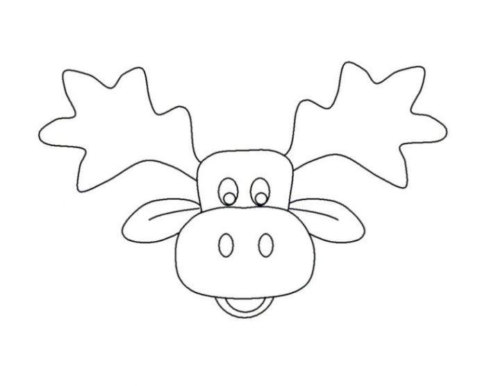 Ausmalbilder zum Drucken Malvorlage elch kostenlos 1